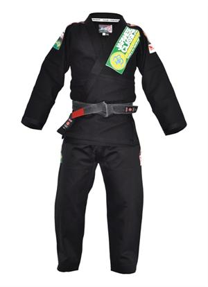 Isami Sachiko Double Weave Black BJJ Gi With Patches